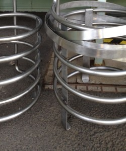 Vertical cooling coils