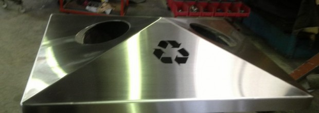 Stainless Steel Rubbish Bins